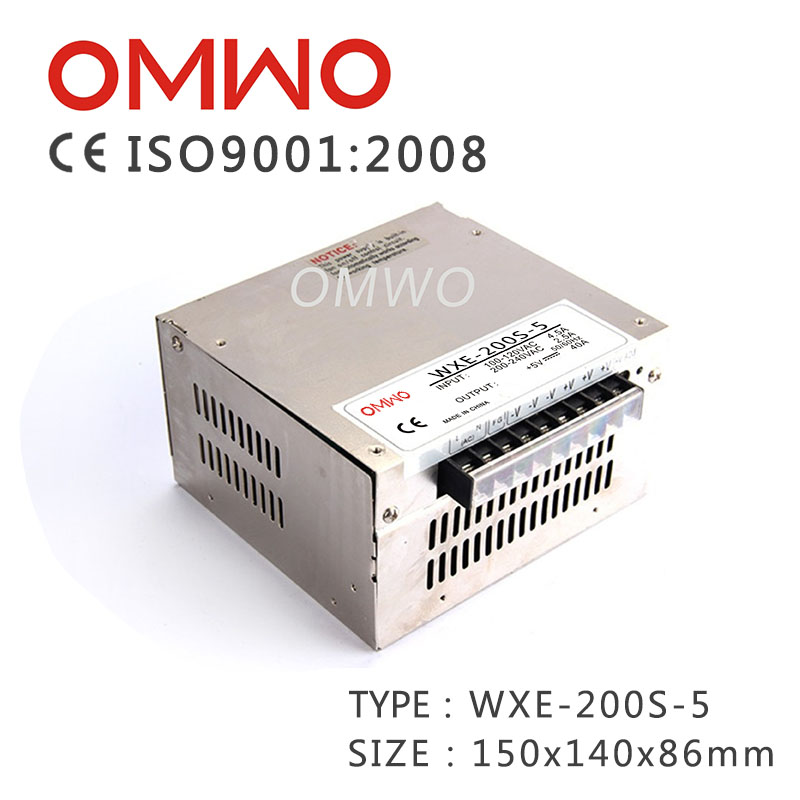 Wxe-200-5, 200W Hot Sale 5V 40A Mobile Power Supply