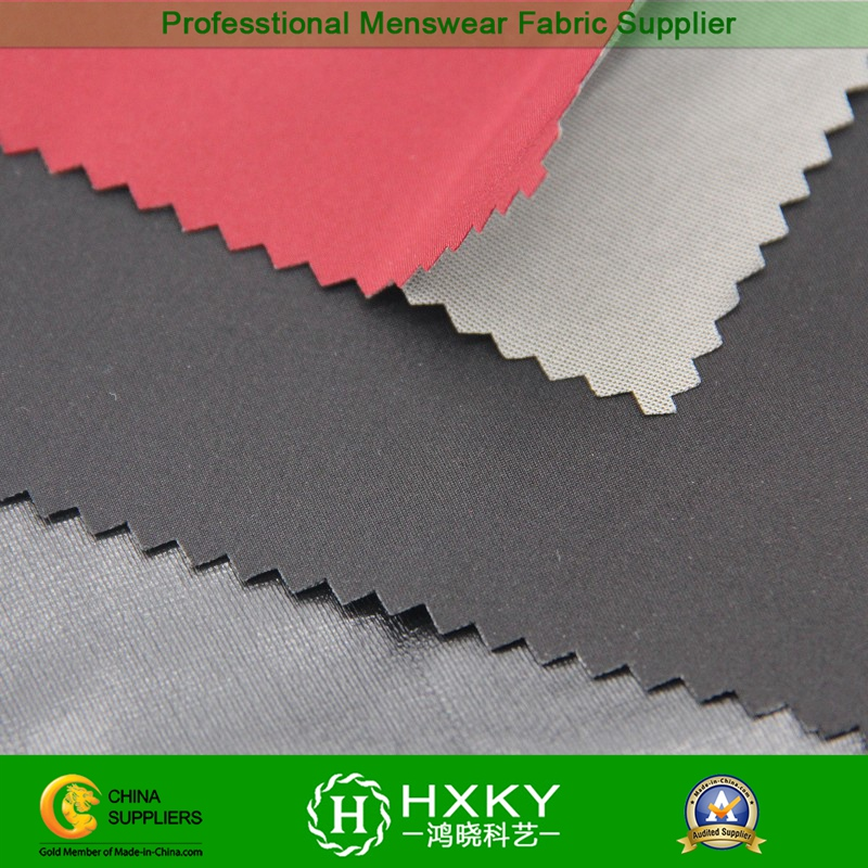 Down Coat Fabric with Woven and Knitted Compound Poly Fabric