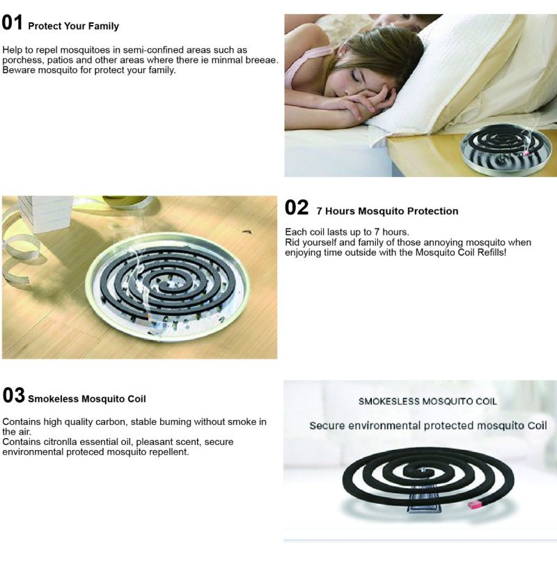 3600 Bags Per 40'hq Hot-Sale Unbreakable China Mosquito Coil Repellent and Harmless Guangzhou Plant Fiber Mosquito Incense Coil