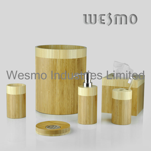 Two-Tone Bamboo Bathroom Accessories (WBB0326A)