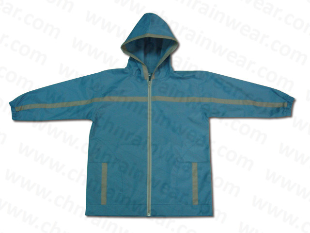 Durable Kids Fashion Rain Jacket