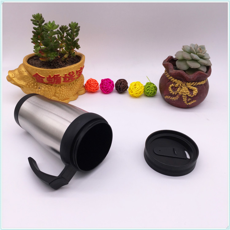 450ml Double Wall Stainless Steel Auto Travel Mug with Handle (SH-SC34)