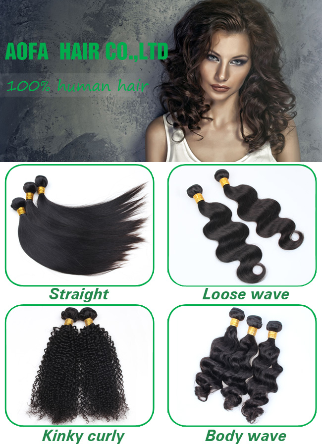 100% Unprocessed Kinky Curly Remy Hair Virgin Human Hair Weft