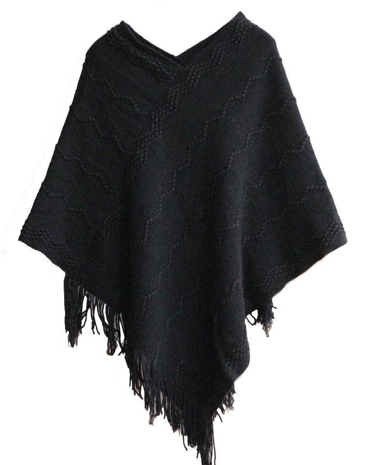 Womens Sweater Cardigan Wraps Winter Knitted Shawls Poncho (SP612)