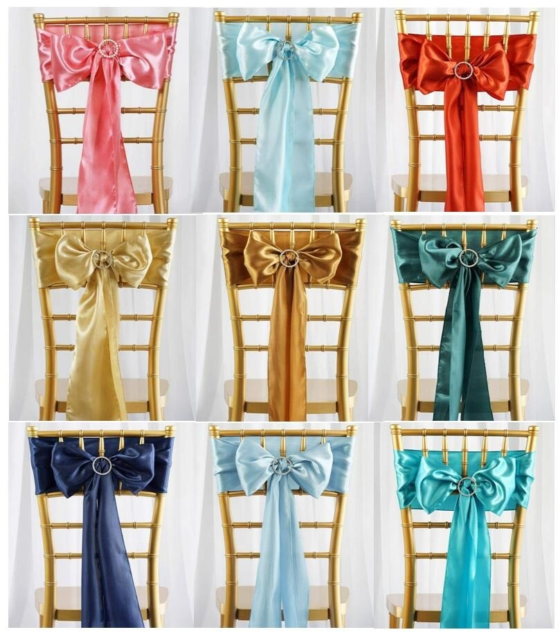 Sash Fuller Bows Chair Cover Bows Sash for Wedding/Party/Birthday Decoration