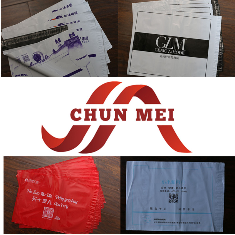 Customized Disposable Waterproof Safe Feature Plastic Poly Bag