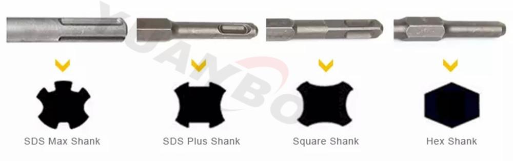 1/2-Inch X 4-Inch X 8-Inch Rock Carbide SDS+ Hammer Bit