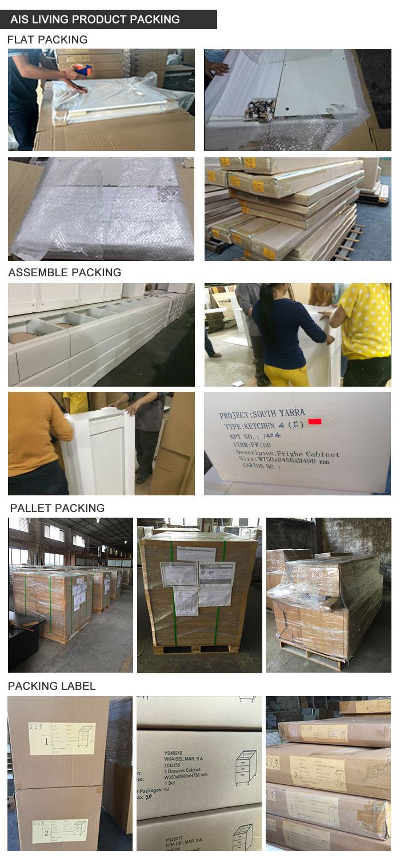 L Shaped Nature Colour Kitchen Cabinets Furniture (AIS-K292)