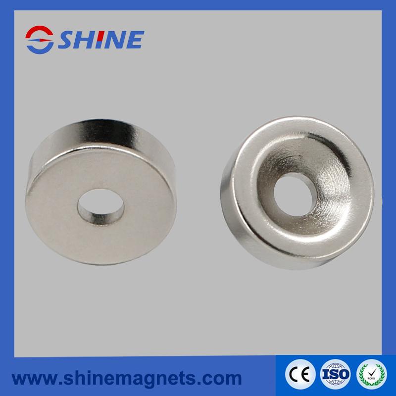 Permanent Neodyimium Ring Countersunk Magnet