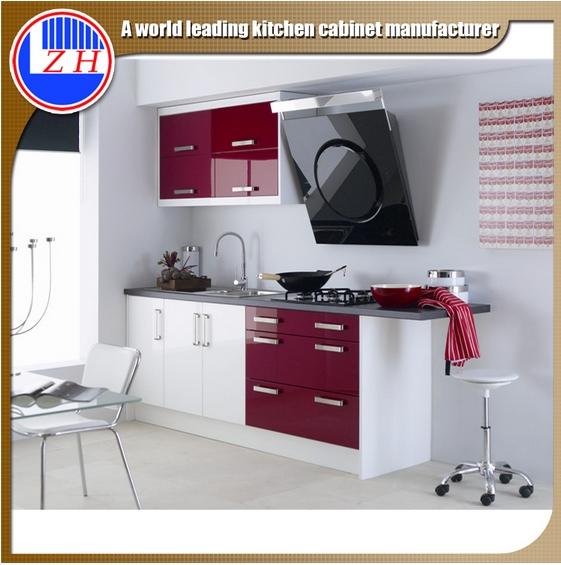 Glossy Laminated MDF Kitchen Furniture
