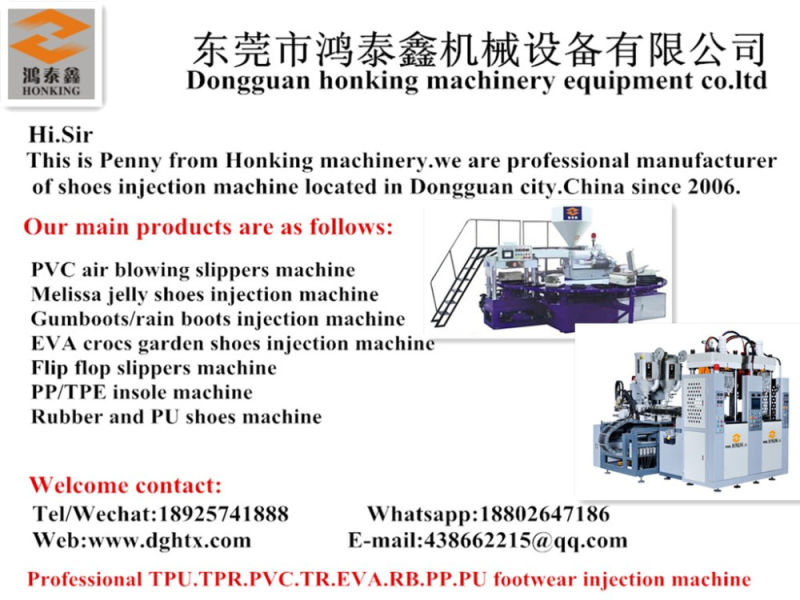 Rotary Plastic Rain Boots Injection Molding Machine