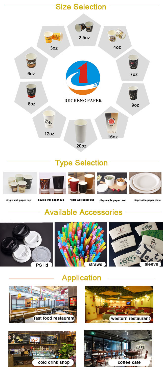 Cheap Price Big Size PE Coated Paper Cups Double Wall Milk Tea Cups