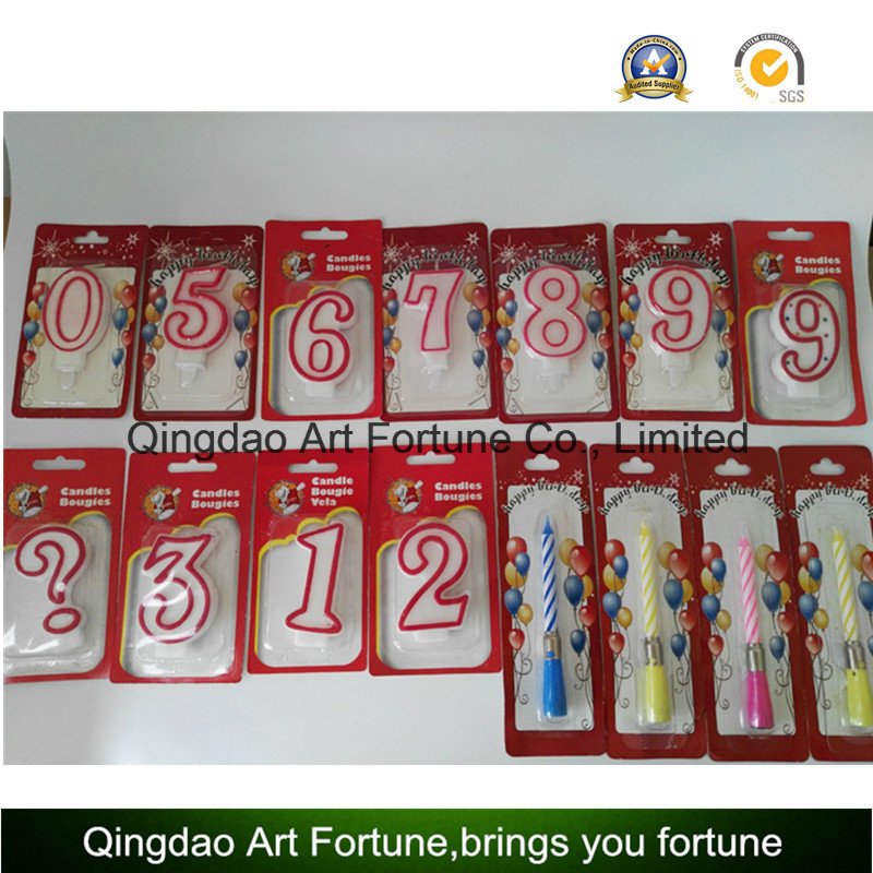 Birthday and Party cake candle-number shape