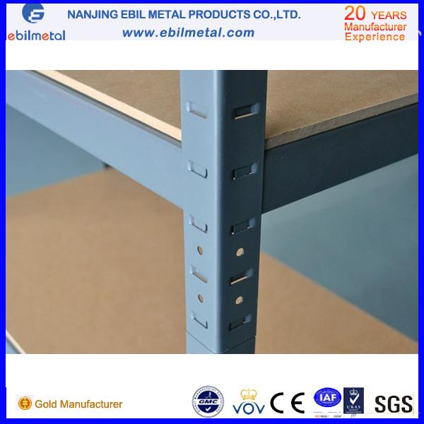 Easy Assembling Boltless Metallic Shelving with Wood Panel