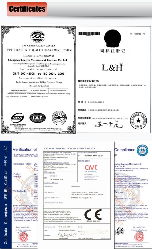 Holland Type High Quality Earth Clamp 200A/300A/400A/500A