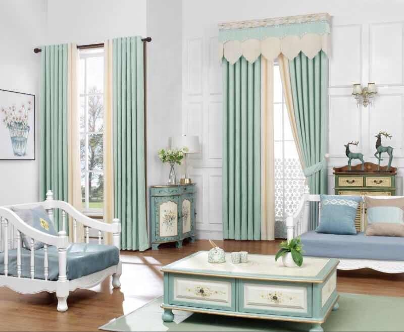 Simple Style Shading Blackout Window Curtain Fabric