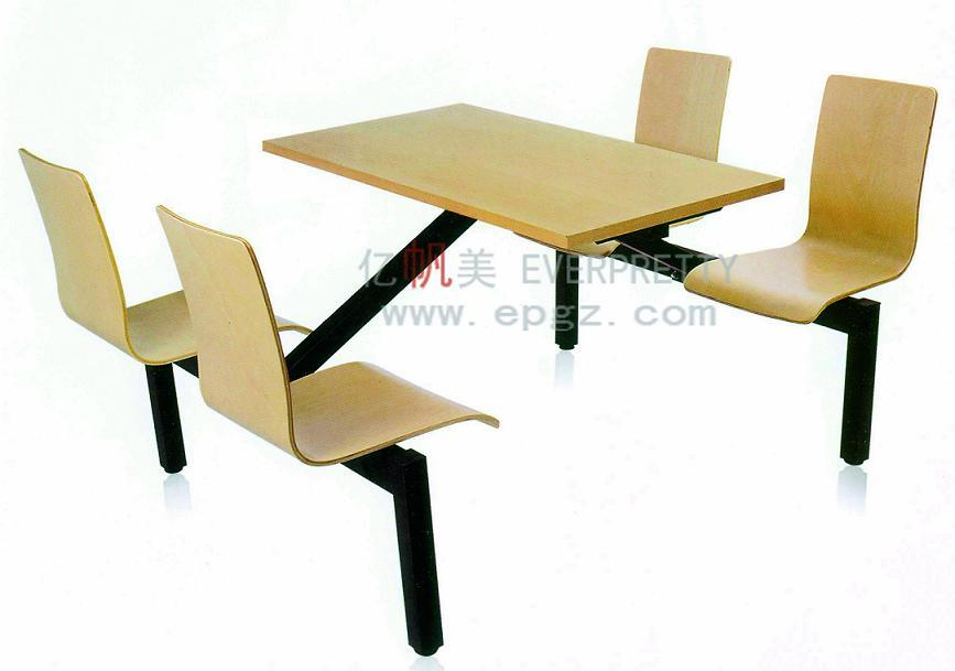 4-Person Yellow Fiber Glass Restaurant Table Chair (DT-05)
