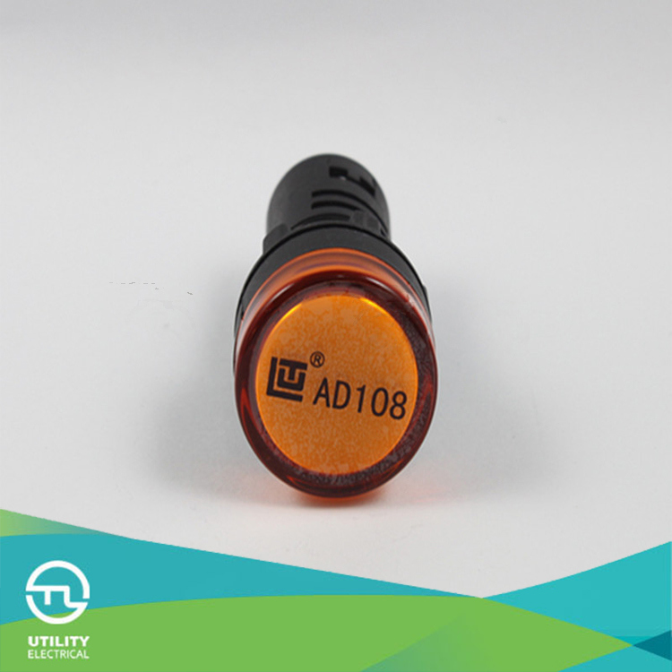 AC DC 24V LED Round Top Indicator Red Yellow Green Blue