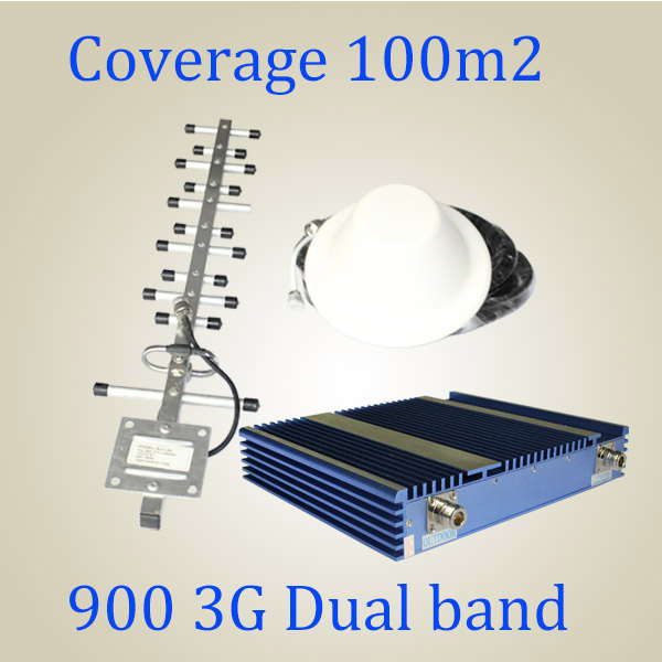 Complete Set GSM/3G 900 2100 2g/3G/4G Signal Booster/Repeater 27dBm
