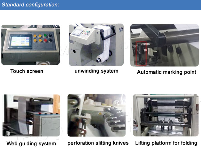 Jps-320zd 320mm Automatic Label Sticker Paper Folding Machine (Folder Machine)