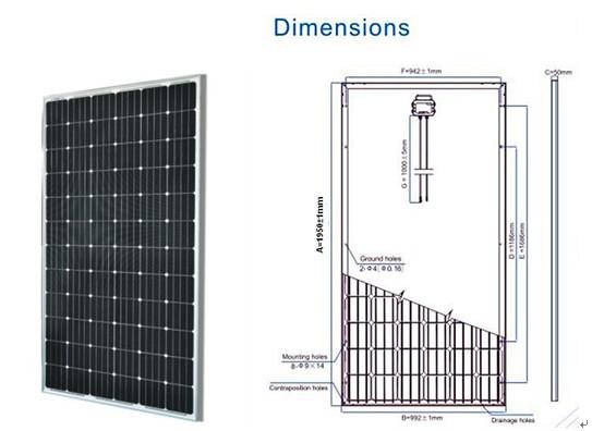PV Solar Panel 55W 130W 150W 250W 300W (SGM-55W)