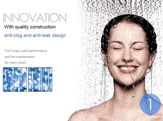 5 Functions Chrome Wall Mounted Bath Combine Shower Head Set