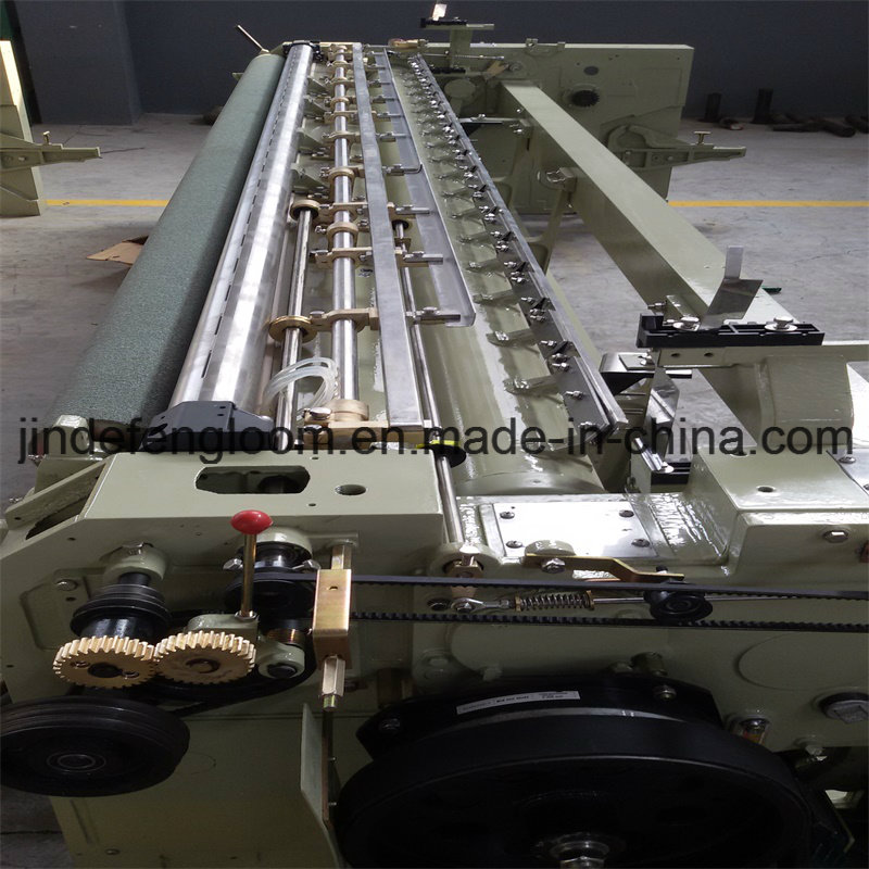 Electronic Let off&Take up Water-Jet Loom with Double Nozzle
