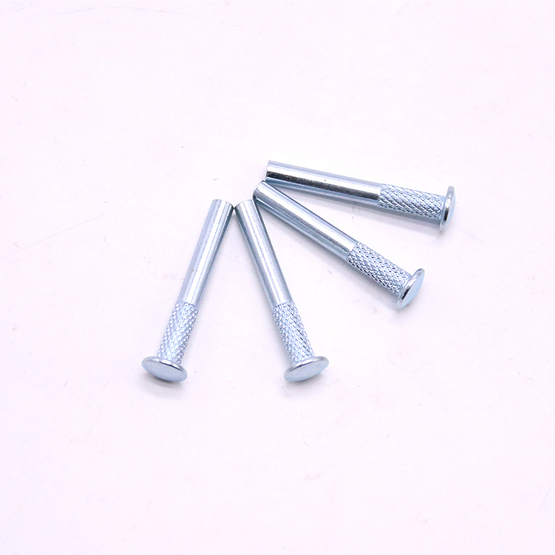 China Screw Factory Galvanized Carbon Steel Knurl Rivet