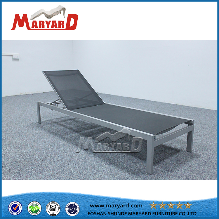Outdoor Garden Adjustable Back Chaise Lounge