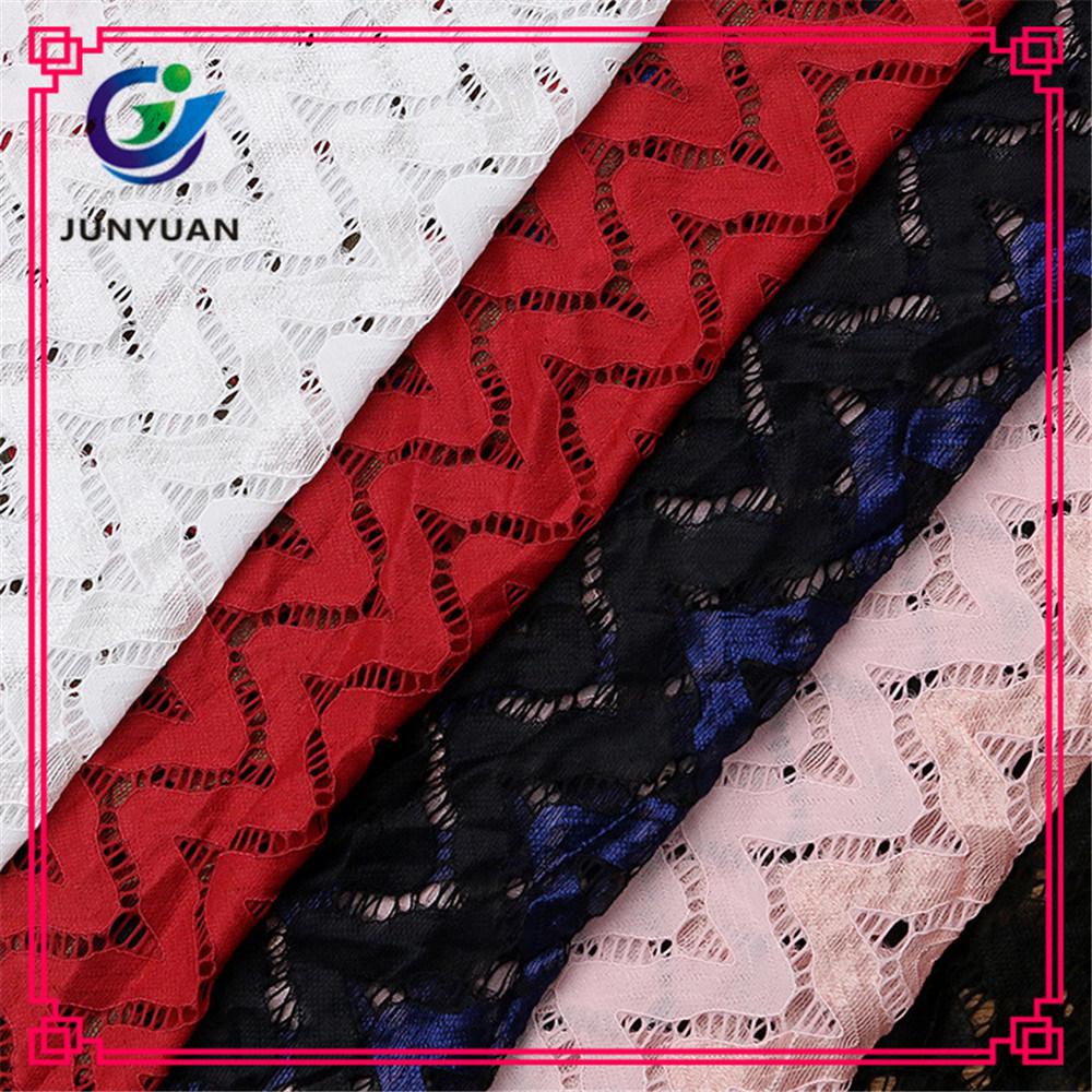 Cotton Nylon Dress Making Stretch Lace Fabric