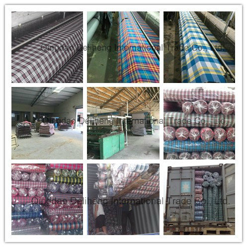 100% Polyester Yarn Dyed Check Design Shirt Fabric