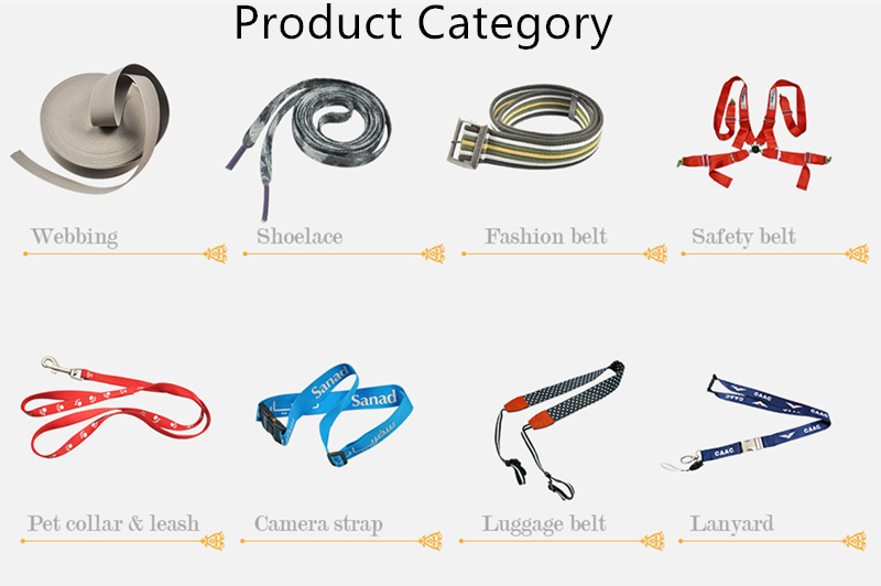100% Eco-Friendly PP/Cotton/Nylon/Polyester Elastic Strap/Ribbon/Belts/Webbings for Garments/Bags