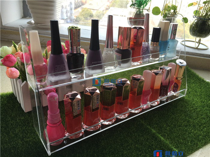 Makeup Organizer Compact Powder Holder 8 Slot Acrylic Storage Case Box Solution