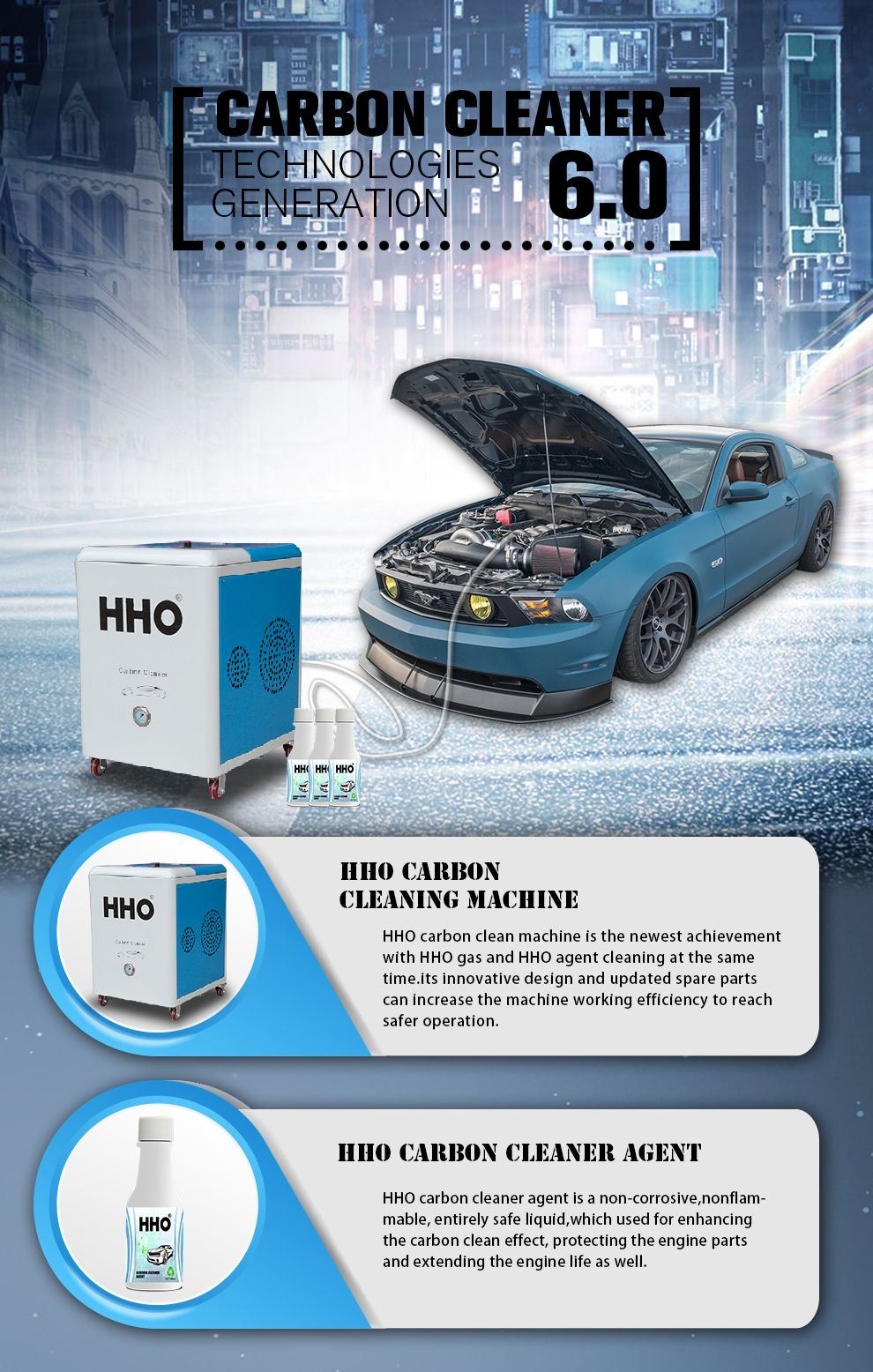 Car Auto Engine Carbon Cleaning Machine