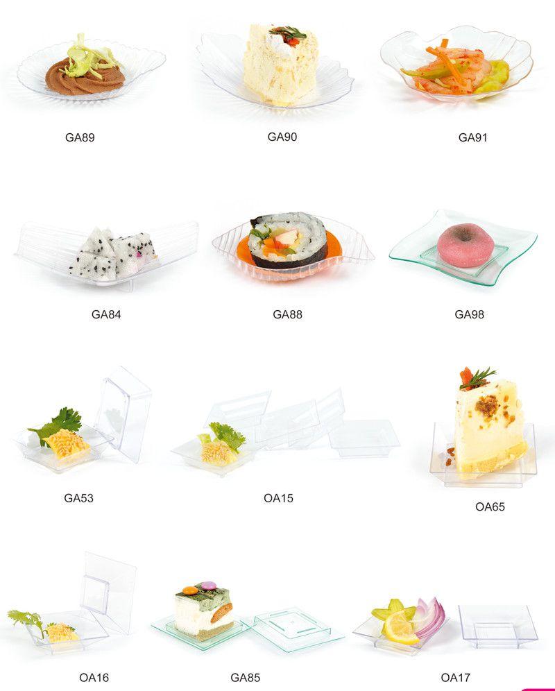 Plastic Dish Disposable Saucer Mini Tea-Tray Food Grade