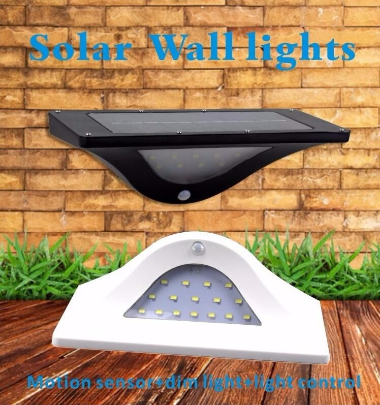 Outdoor Garden Fence Wall Patio Use LED PIR Solar Motion Sensor Light