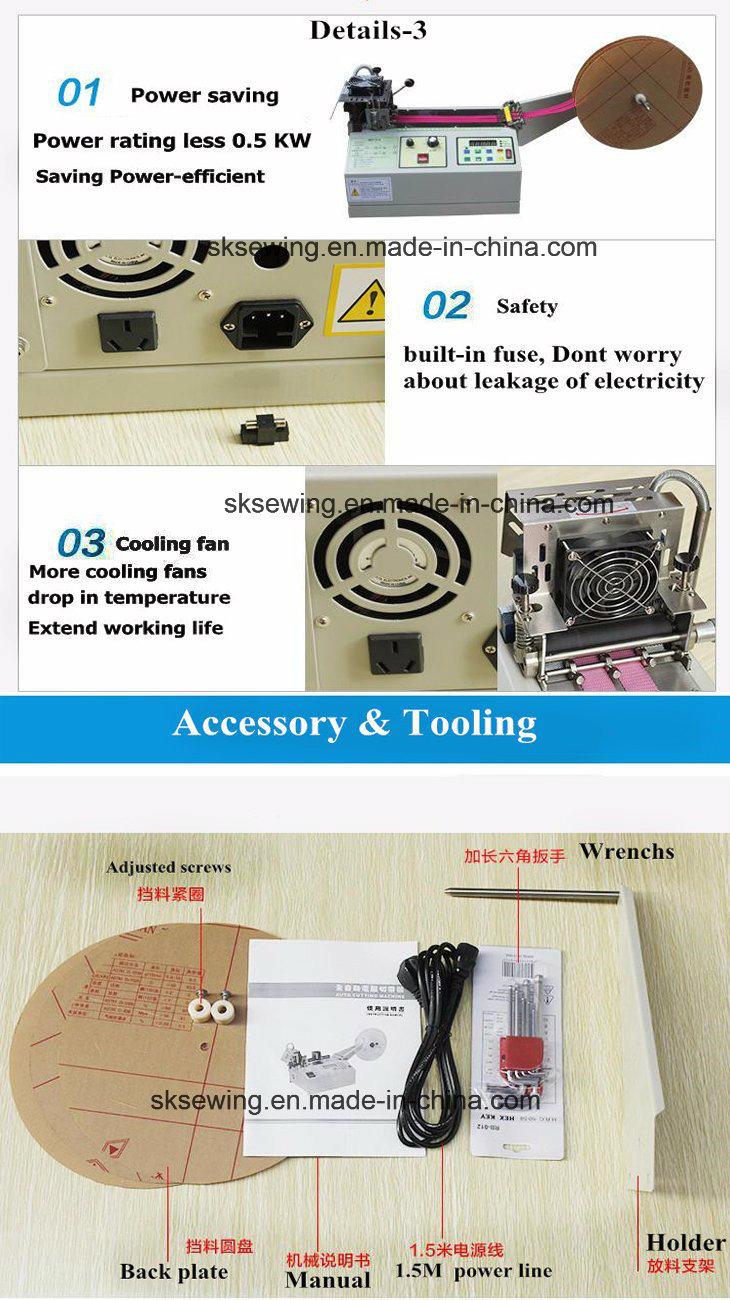 Belt Strap Ribbon Tape Velcro Tape Nylon Webbing Cutting Machine