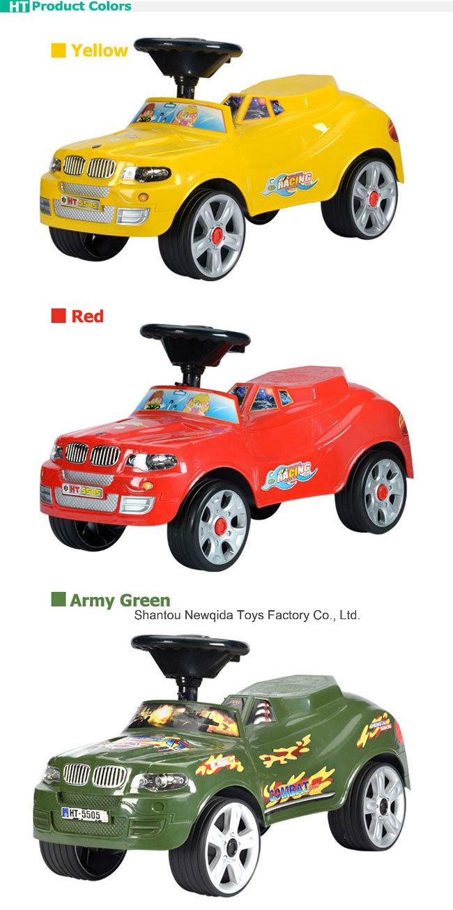 Whole Price Music Steering Wheel Ride on Car for Baby Toy