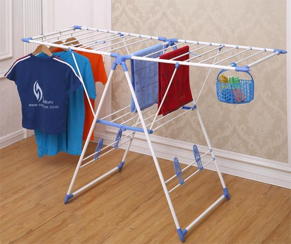 Powder Coated White Tube Clothes Drying Rack (JP-CR109PS)