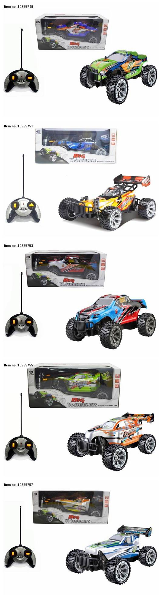 2.4G Four Function R/C Car Toys for Kids Without Charging