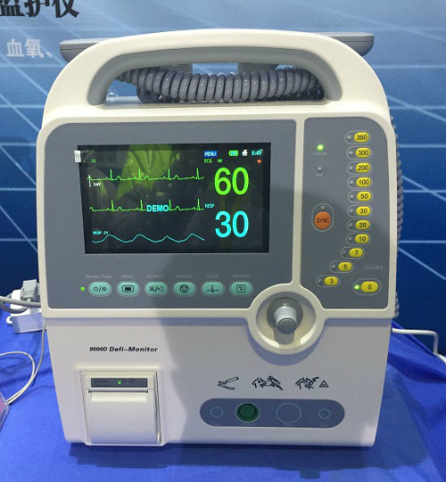 Hc-9000d Medical Equipment Portable Defibrillator with Ce ISO Certificate