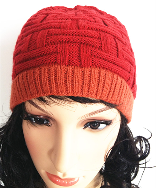 Custom Beautiful Weave Embroider Jacquard Knitting Cap