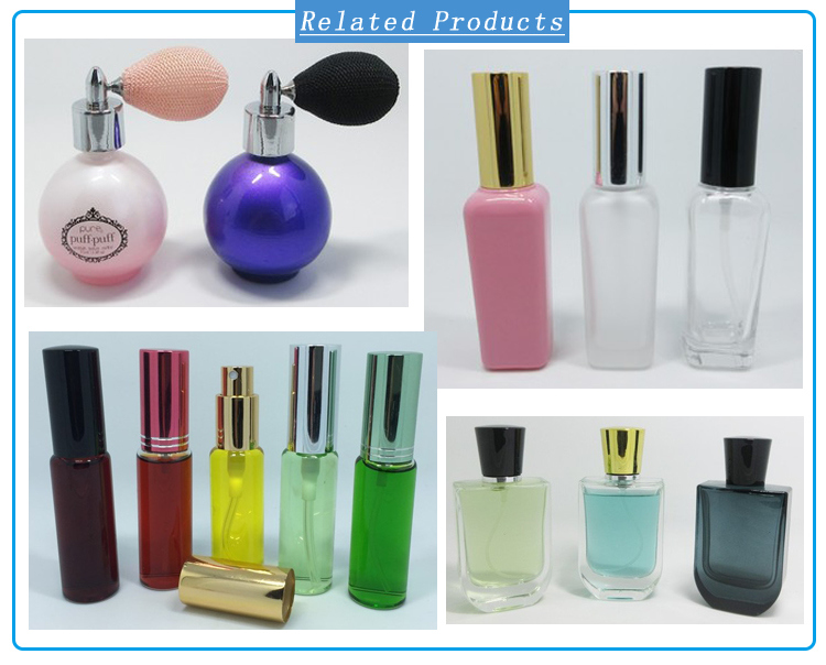 9ml Clear Mini Fine Mist Spray Glass Bottle Square Shape