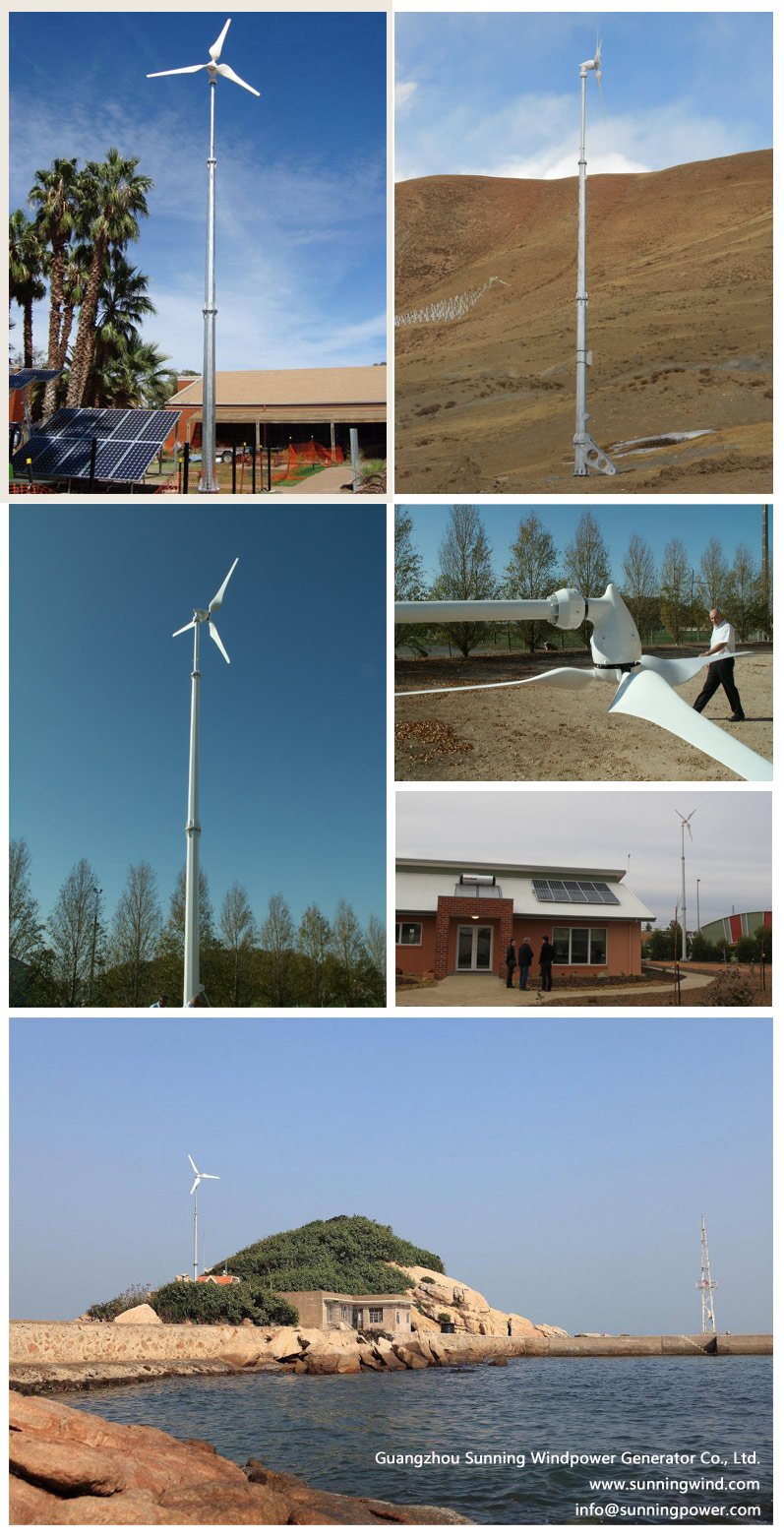 Small Wind Turbine-Generators 5000W Wind Power Energy for Home Family