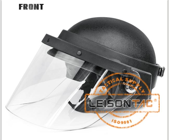 Ballistic Helmet with High Strength Reinforced PC Veil
