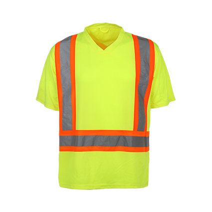 100% Polyester Birdeye Reflective Safety T-Shirt