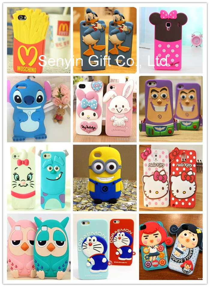 3D Cute Doraemon Soft Silicone Case for iPhone