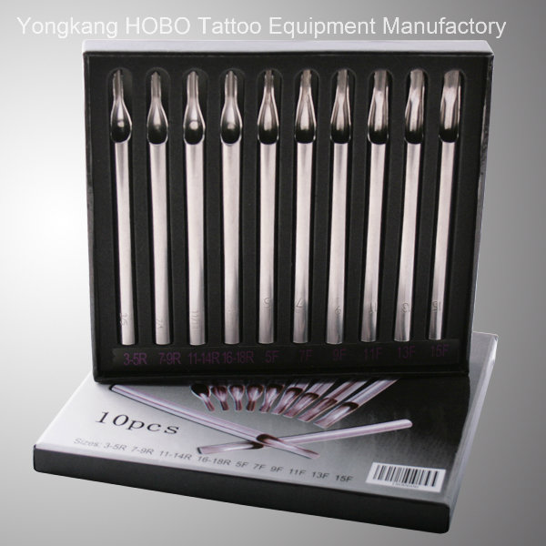 New Short Silver Stainless Steel Tattoo Needle Tips