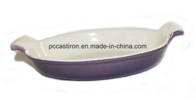 Enamel Cast Iron Saute Pan Size 26X15.5cm