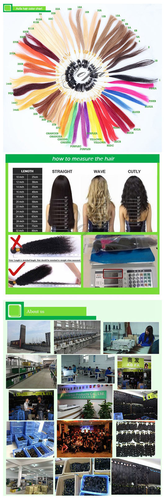 100% Unprocessed Virgin Hair Remy Human Hair Extension